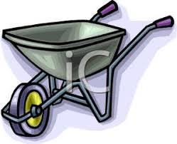 A Green Wheelbarrow Clipart