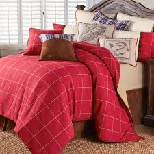 South Haven Rustic Red Plaid Comforter Bedding
