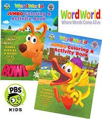 Classy Design Jumbo Coloring Books Amazon WordWorld And Activity Book Set 2