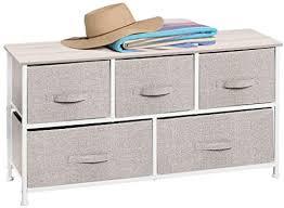 mdesign kommode aus stoff praktischer schrank organizer mit 5 schubladen aufbewahrungssystem für schlafzimmer apartment und kleine wohnräume