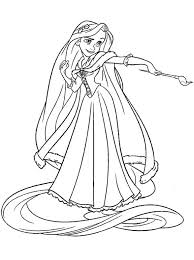 Princess Rapunzel Coloring Pages Disney Tangled