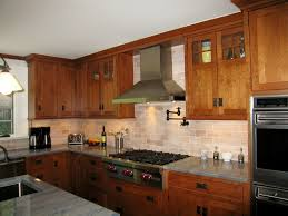 Kitchen Paint Colors With Natural Cherry Cabinets by Show Me Your Stained Cabinets With Contrasting Countertop