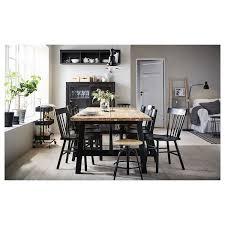 skogsta norraryd tisch und 6 stühle akazie schwarz