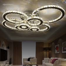 kristall moderne led deckenleuchten für wohnzimmer schlafzimmer kreis ringe cristals indoor led moderne dimmen deckenleuchte leuchten