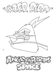 Angry Bird Space The Lazer Birds Coloring Pages