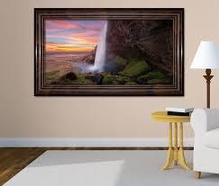3d wandtattoo wasserfall island schöne landschaft selbstklebend wandbild wohnzimmer wand aufkleber 11l1631 wandtattoos und leinwandbilder
