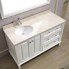 opulent design ideas 55 bathroom vanity lily white single sink
