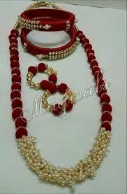 Silk Thread Bangles Jewellery Necklace Beaded Jewelry Craft Work Ribbon Patterns