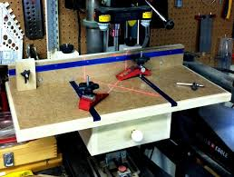 benchtop drill press table with resurrected laser guide by