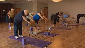 Chair Yoga Gives Seniors' Health A Lift | WFAA.com Yoga For Seniors Youtube Actively Aging With Energizing Chair Get Moving Best Of Interior Design And Home Gentle Midlifers Look No Hands Exercises For Ideas Senior Fitness Cerfication Seniorfit Life 25 Yoga Ideas On Pinterest Exercises Office Improve Your Balance Multimovements Led By Paula At The Y Ymca Of Orange County Stay Strong Dance Live Olga Danilevich Land Programs Dorothy C Benson Multipurpose Complex Tai Chi With Patience