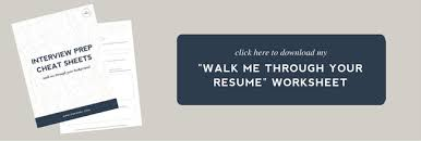 Image Gallery Of Walk Me Through Your Resume Sample Answer 17 Classy Example Top 10 Interview Questions