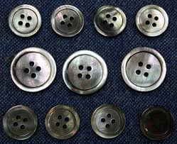 smoke mother of pearl buttons set for suit jacket blazer or