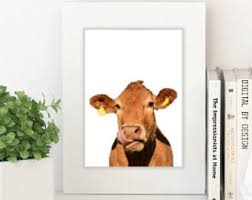 Farmhouse Decor Cow Print Rustic Home DecorFarmhouse Printable Fixer Upper Style