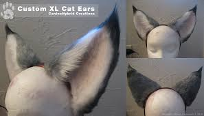 how to make cat ears commission xl gray cat ears by caninehybrid on deviantart