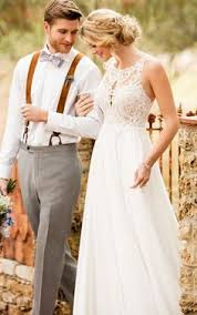 Effortless And Ethereal This Boho Wedding Dress From Essense Of Australia Is A Lace
