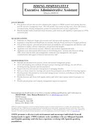 Resume Administrative Assistant Duties