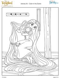 RAPUNZELS LONG HAIR Coloring Sheet