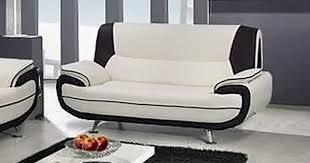 canape blanc noir deco in canape 2 places design blanc et noir marita marita