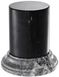 casa padrino luxus marmorsäule schwarz grau ø 17 5 x h 19 cm wohnzimmer deko accessoires