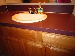 Bathroom Countertop Materials Comparison by Diy Faux Granite Countertop U2026 Without A Kit For Under 60 Oooh