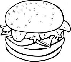 Free Vector Hamburger B And W Clip Art