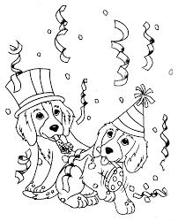 Dog And Cat Coloring Pages Printable Page For Kids Of Cats