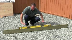 12x16 Shed Kit With Floor by How To Build A Shed Video 1 Of 15 Ground Preparation Youtube
