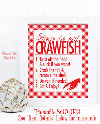 Crawfish Boil Table Decorations by Crawfish Boil Decorations How To Eat Crawfish Sign Crawfish