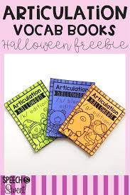 Halloween Picture Books 2017 by Speech Is Sweet Halloween Articulation Vocabulary Books Freebie