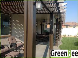 Louvered Patio Covers Phoenix by Alumawood Lattice And Solid Combo Patio Cover In White Greenbee