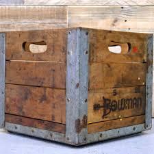 Antique Wooden Milk Crates Best 2000 Decor Ideas