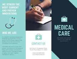 Shades Of Blue Medical Trifold Brochure