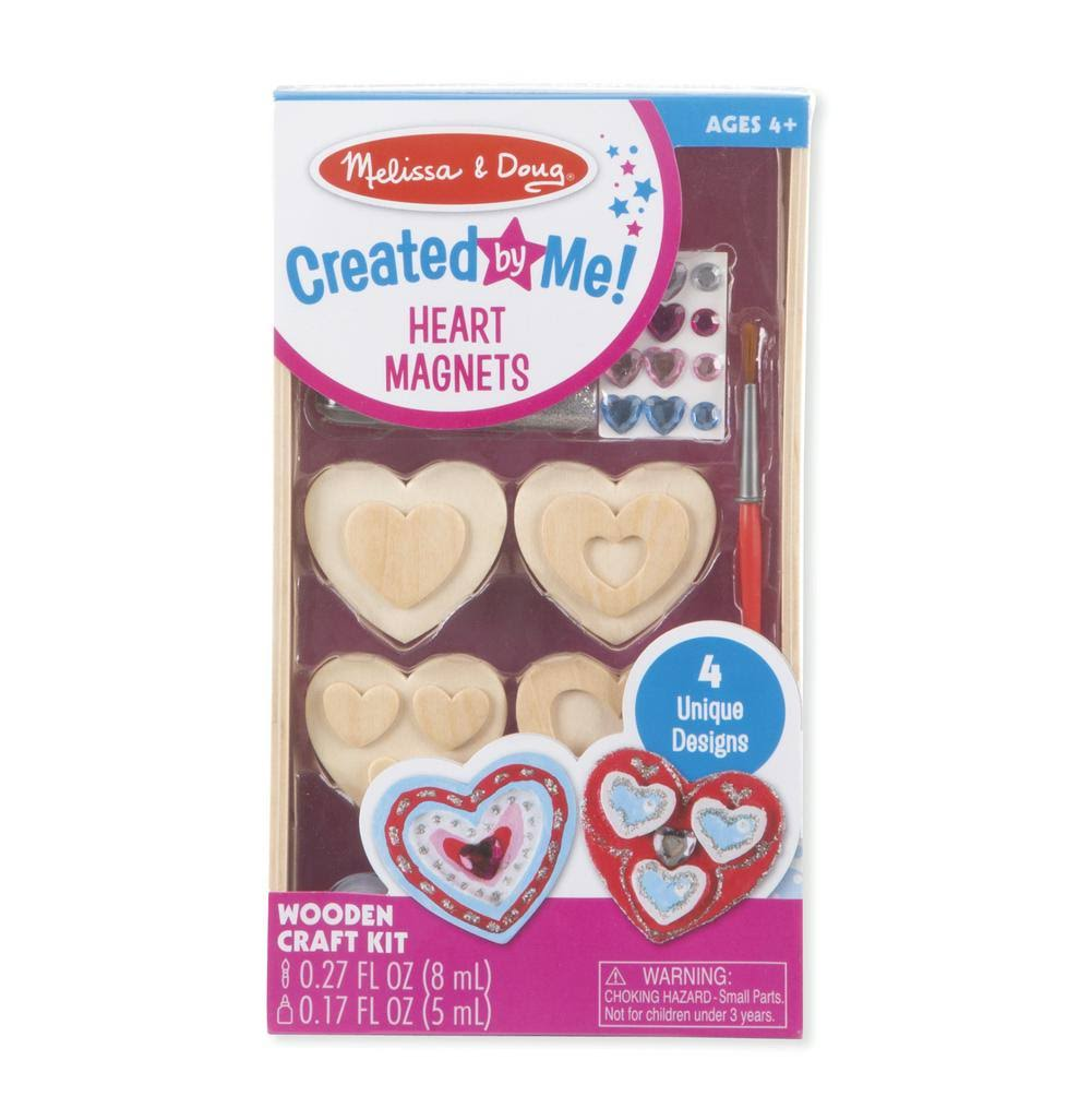 Melissa & Doug - Created by Me! Heart Magnets Wooden Craft Kit