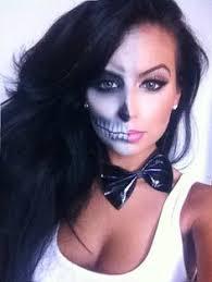 Halloween Half Mask Makeup by Half Skull Halloween Makeup Tutorial Cocochicblog Batwomen