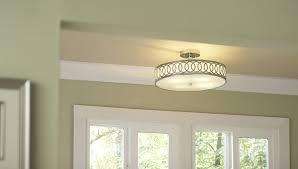 flush mount lighting in kitchen