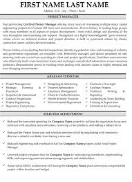 Project Manager Resume Sample Template