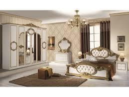 schlichter schlafzimmer set barletta 6 teilig weiß gold