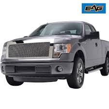 09-14 Ford F150 Mesh Grille Grill ABS Polished Chrome Packaged ... 52016 Ford F150 Chrome 5 Five Bar Radiator Grille Oem New Fl3z Blacked Out 2017 With Guard Topperking Ijdmtoy 4pc Raptor Style 3000k Amber Led Lighting Kit For Chevy Ride Guides A Quick Guide To Identifying 196166 Pickups Announces Changes For 2013 Road Reality Mesh Replacement 30in Dual Row Black Series 2015 Old Truck Grill Photograph By John Puckett Options Page 124 Forum 02014 Camera With Rdsseries 30 Paramount Automotive Grill Letters Enthusiasts Forums 52017 Addicts Traxxas Ripit Rc Cars Trucks Fancing