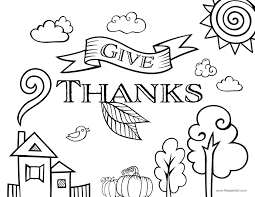 Happy Thanksgiving Coloring Page Pages Hello Kitty Picture