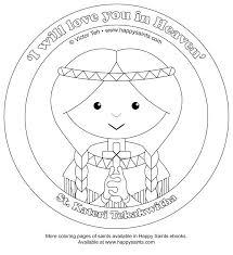 St Kateri Tekakwitha All Saints Day Coloring Page