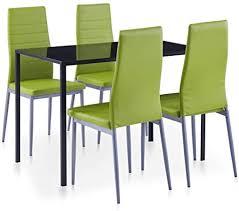 vidaxl essgruppe 5 tlg esszimmertisch esstischset esszimmergarnitur küchentisch esszimmer stuhl tisch set sitzgruppe esstisch mit 4 stühlen grün