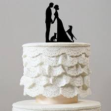 Engagement Wedding Cake Topper 1 Dog Cat Happy Family Pets Puppy