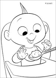 Coloring Page Of The Baby Increbibles Jack A Cute About