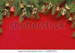 Music Instruments Notes Christmas Tree Brunch On Red Velvet