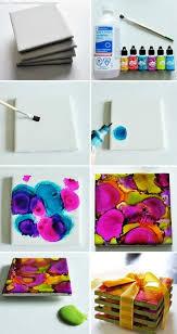 DIY Art Coasters Diy Crafts Home Crafty Easy Craft Decor Decoration