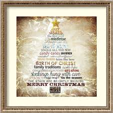 Christmas Tree Subway Art By Sally Barlow 22 X Inch Framed