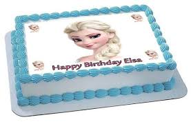 Frozen Elsa Face 2 Edible Cake Topper & Cupcake Toppers – Edible