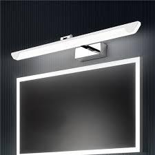 led spiegelleuchte moderne wandleuchte aus acryl edelstahl für badezimmer