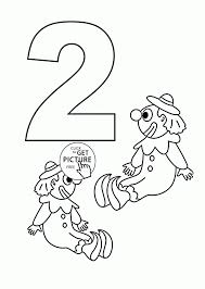 Number Coloring Pages For Kids Counting Sheets Printables Page Of 2 Educations