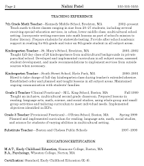 Teacher Resumes Best Template Collection